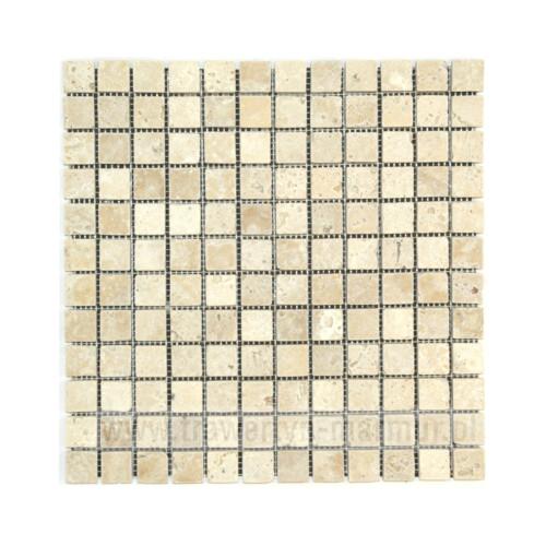 Mozaika kamienna trawertyn Ivory Tumbled 2cm x 2cm