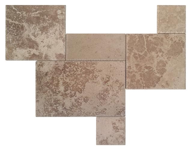 Trawertyn Tuscany B/C Square Pavio (french pattern)