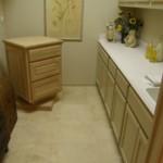 Trawertyn w małej łazience