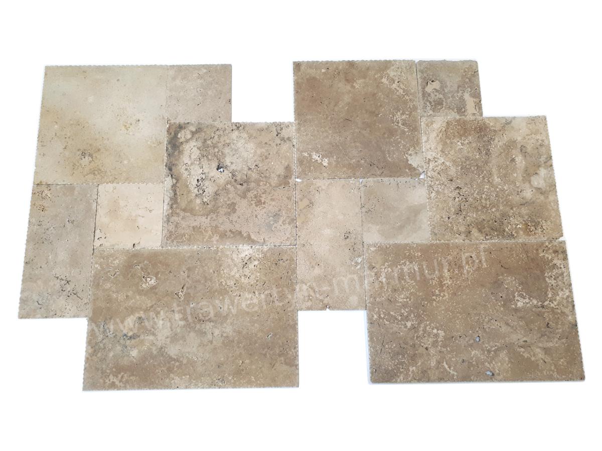 Trawertyn Ivory Antique B/C Square Pavio