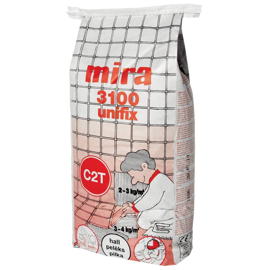Klej do płytek Mira 3100 unifix (biały) C2T 15kg