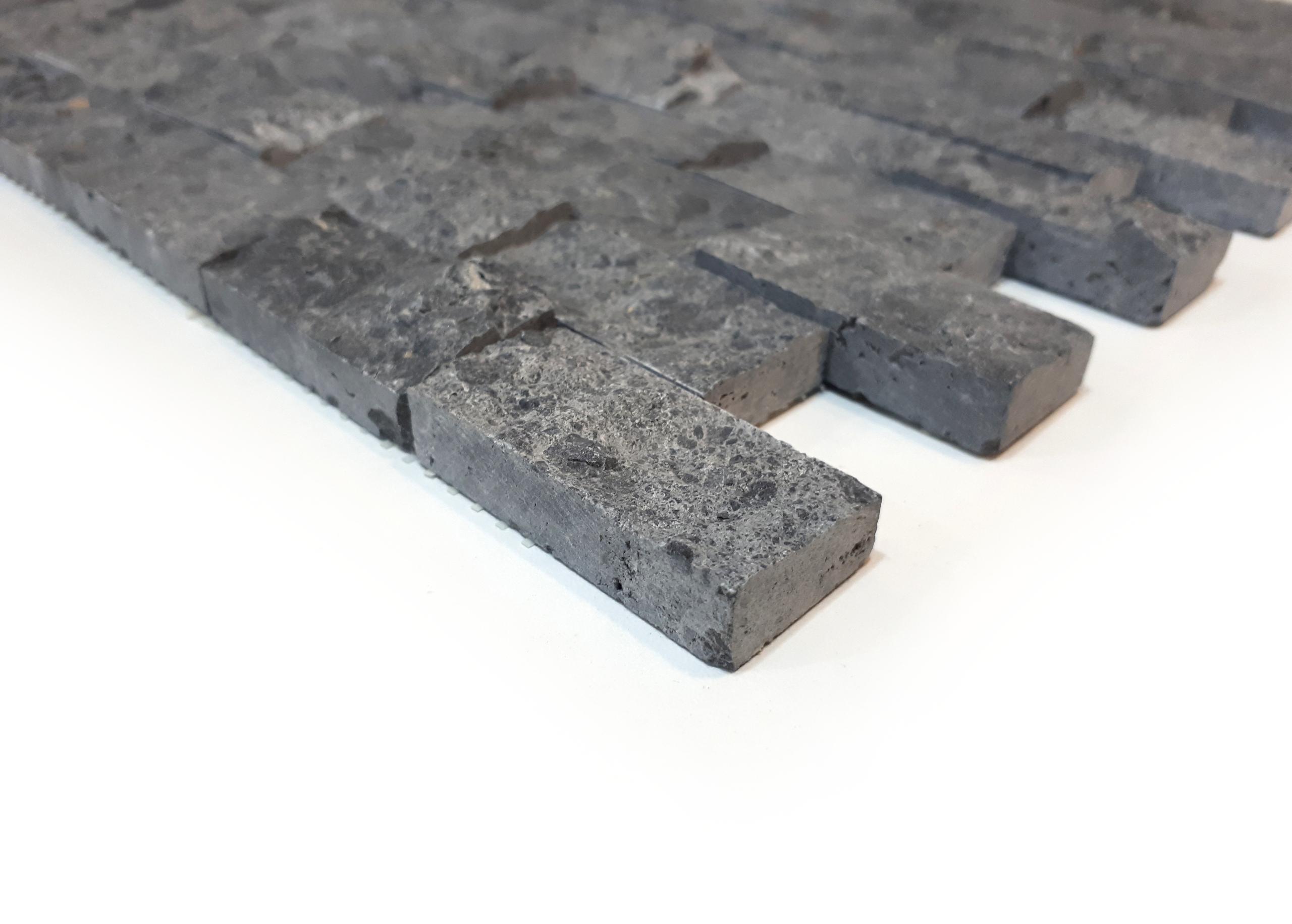 Mozaika marmurowa Czarny Marmur Łupek 2,5cm x 5cm
