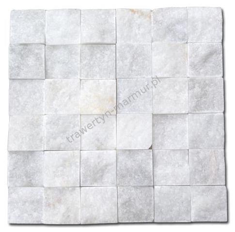 Mozaika marmurowa Biały Marmur Łupek 5cm x 5cm