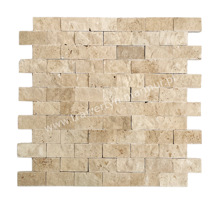 Mozaika trawertynowa Ivory Łupek 2,5cm x 5cm