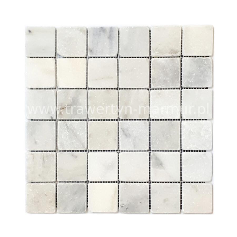 Mozaika kamienna marmurowa Calacatta Tumbled 5cm x 5cm