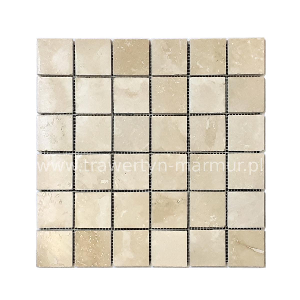 Mozaika kamienna trawertyn Ivory H/F 5cm x 5cm