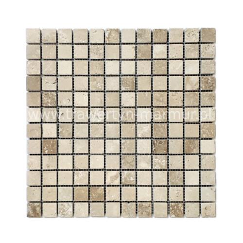 Mozaika kamienna trawertyn Walnut Tumbled 2cm x 2cm