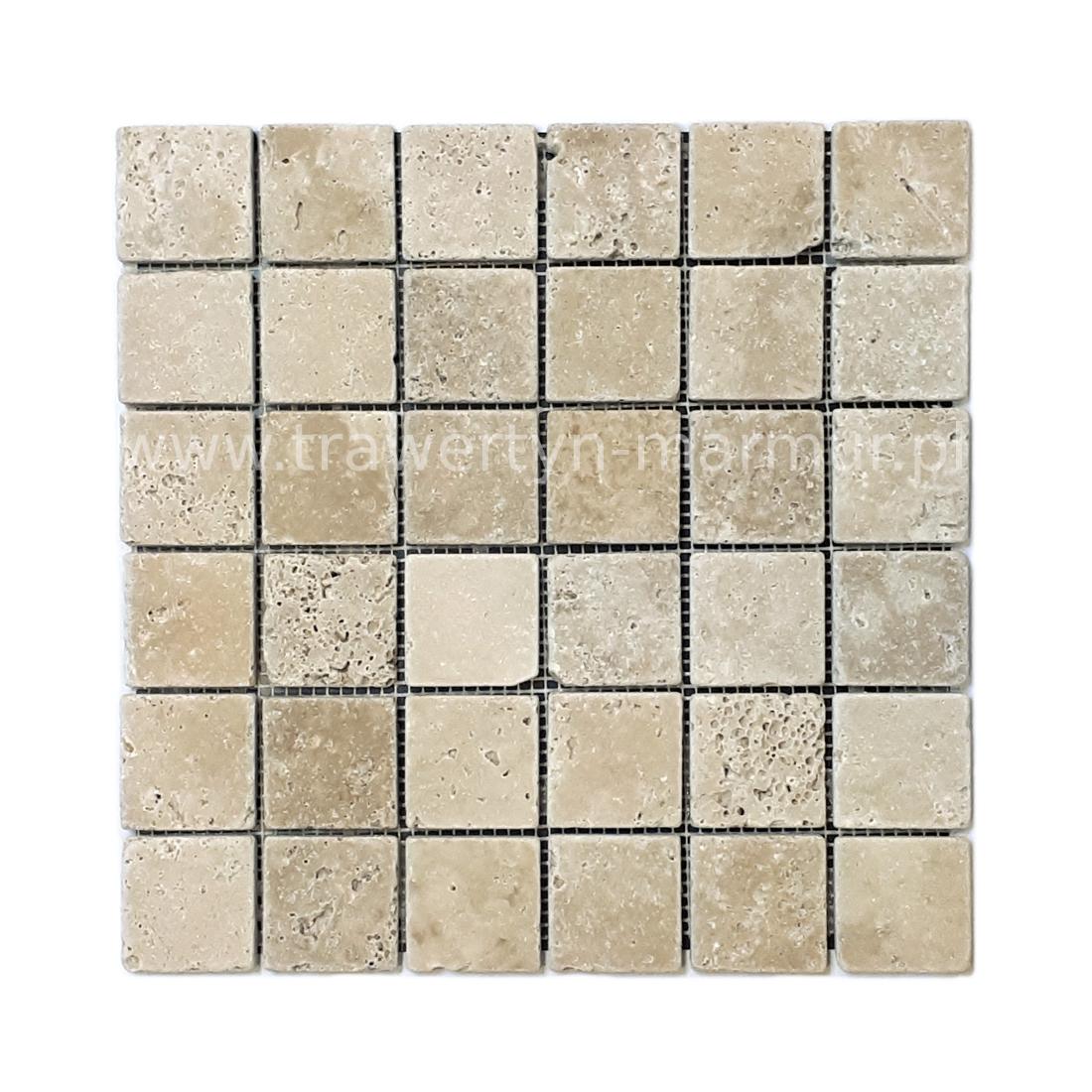 Mozaika kamienna trawertyn Walnut Tumbled 5cm x 5cm