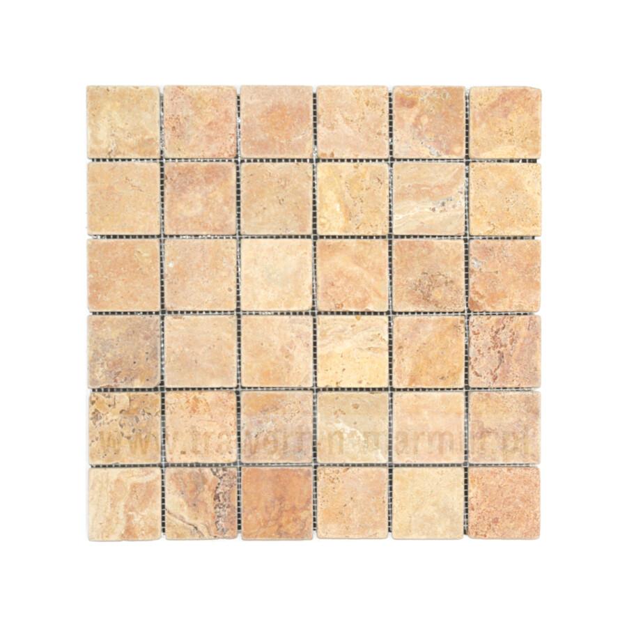 Mozaika trawertynowa Yellow Tumbled 5cm x 5cm