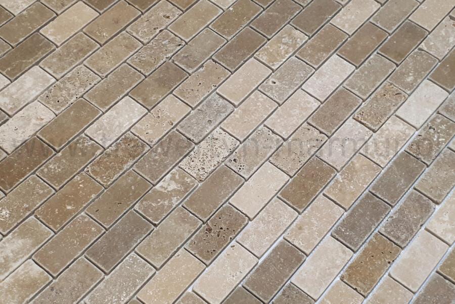 Mozaika trawertyn Noce (Noche) Tumbled 5cm x 10cm