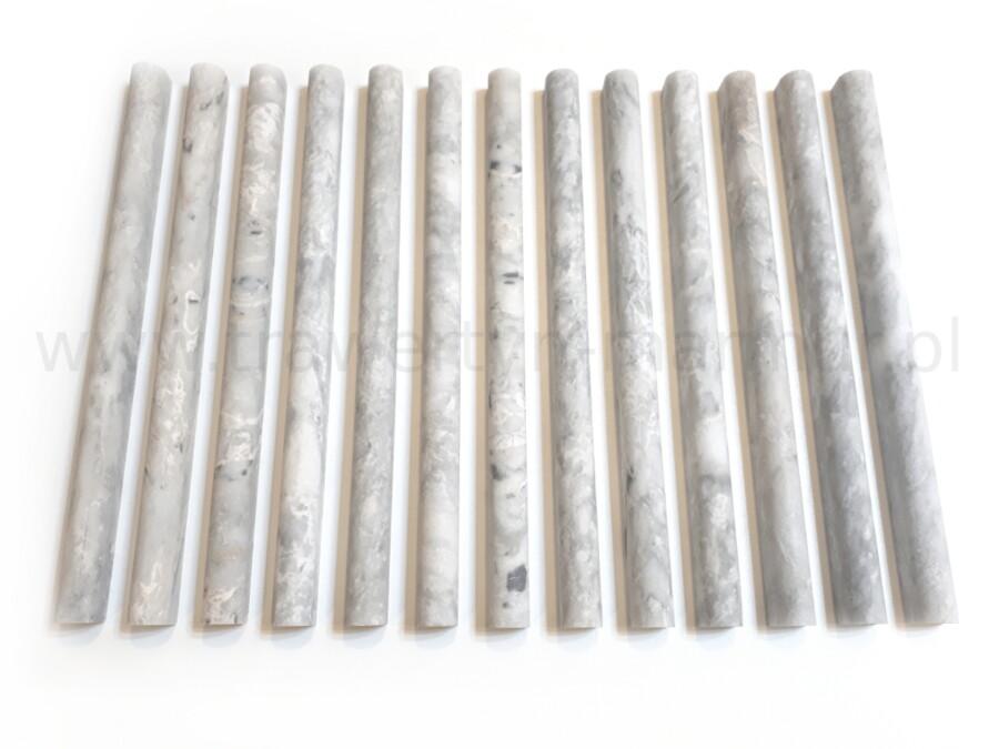 Dekor marmurowy Silver Pencil 2cm x 30,5cm