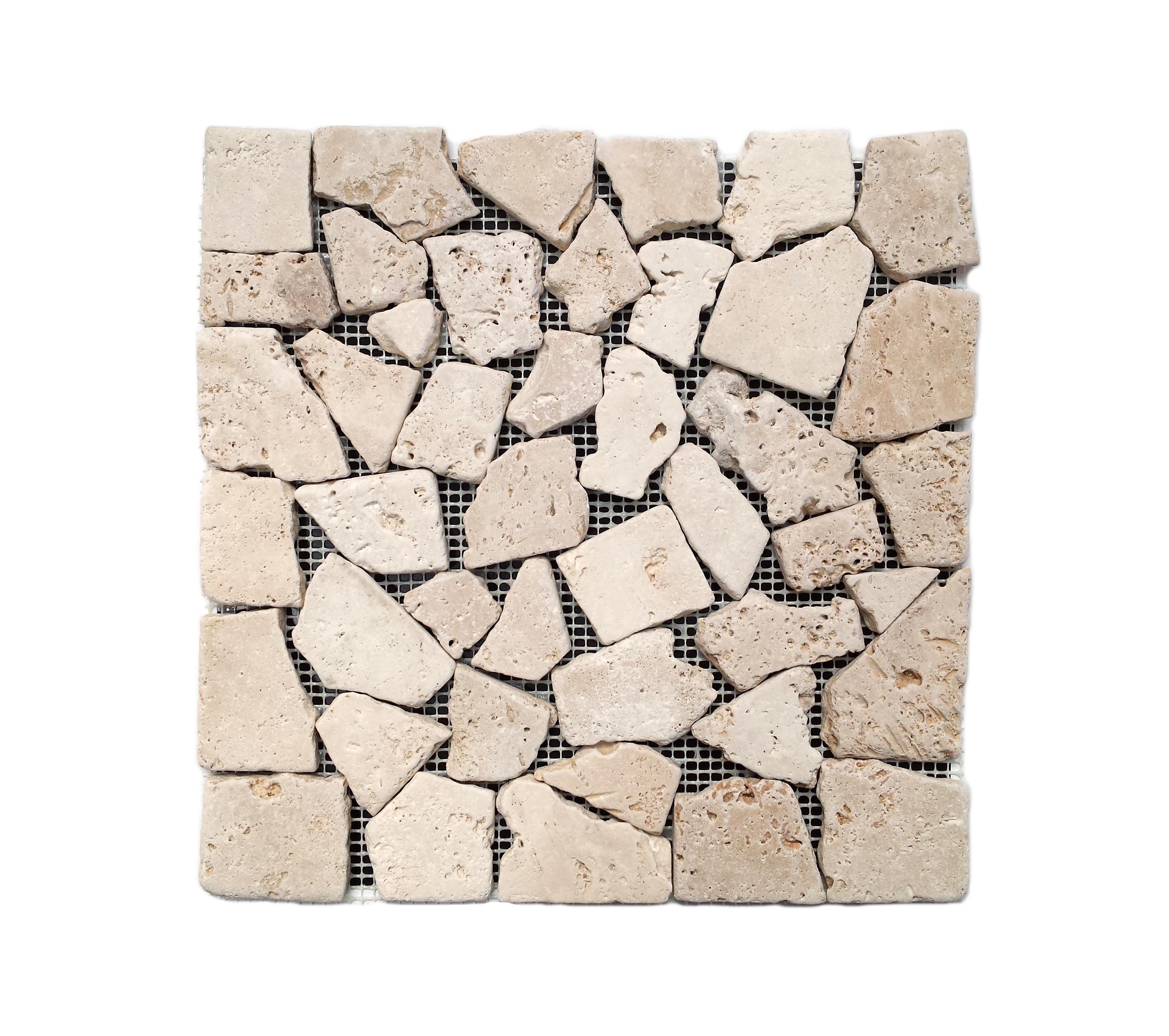 Mozaika trawertynowa Ivory Palladien Tumbled