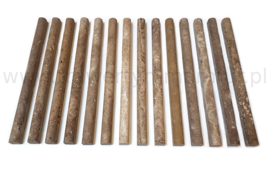 Dekor trawertynowy Noce (Noche) Pencil 2cm x 30,5cm
