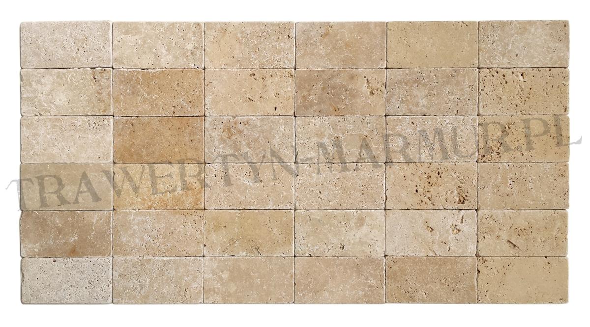 Trawertyn Ivory Tumbled 7,5cm x 15cm x 1cm