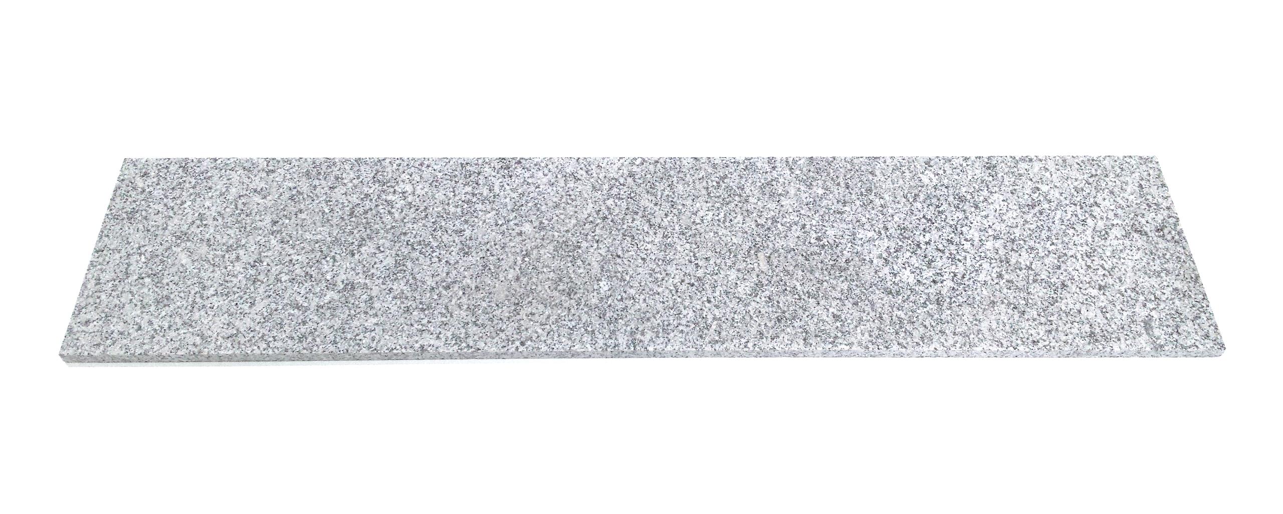 Stopnica schodowa granit Grey Light G602 płomieniowana 150cm x 33cm x 2cm