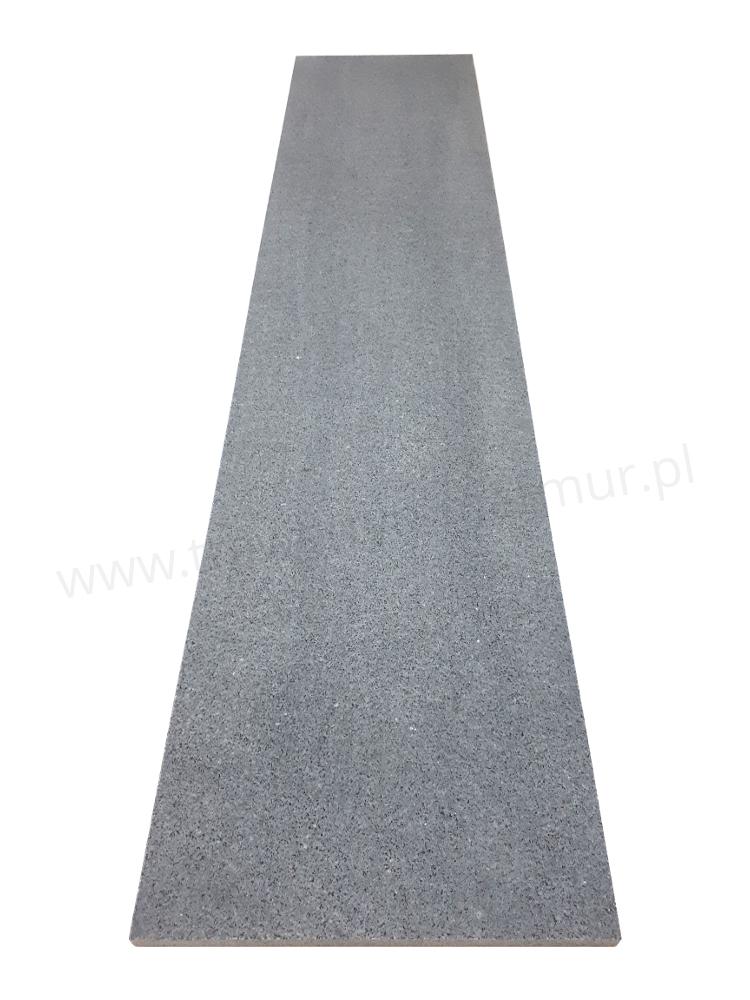 Stopnica schodowa granit Padang Dark G654 szczotkowana 150cm x 33cm x 2cm