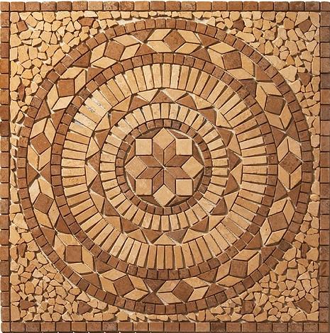 Rozeta podłogowa z kamienia naturalnego