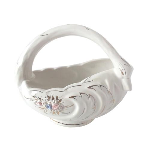 Koszyk ceramiczny ŁABĘDŹ 17 cm