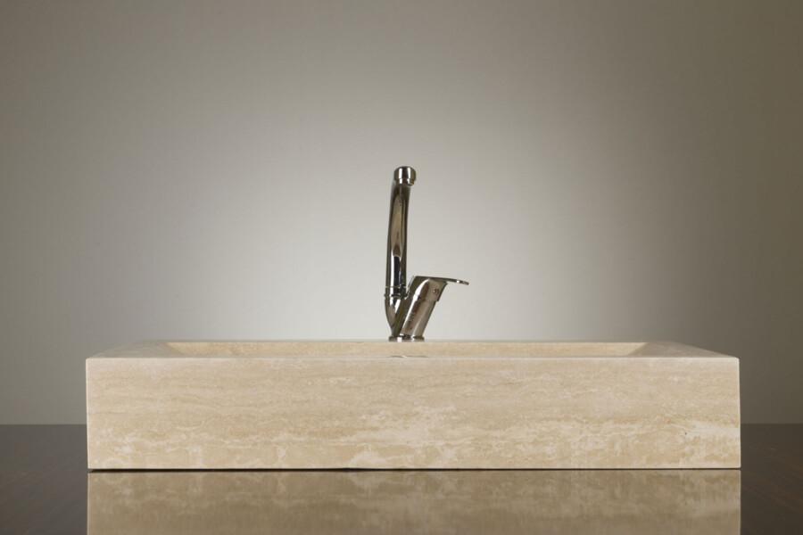 Umywalka kamienna nablatowa trawertyn Ivory CM-10