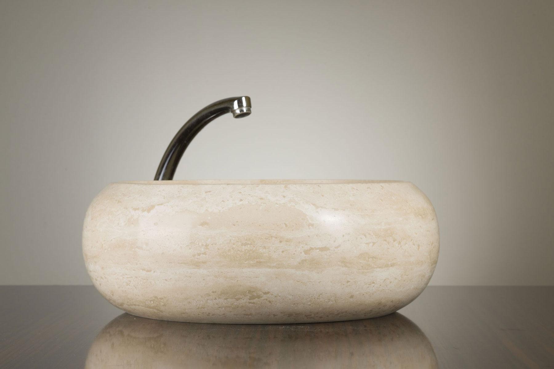 Umywalka kamienna trawertyn Ivory CM-03-01