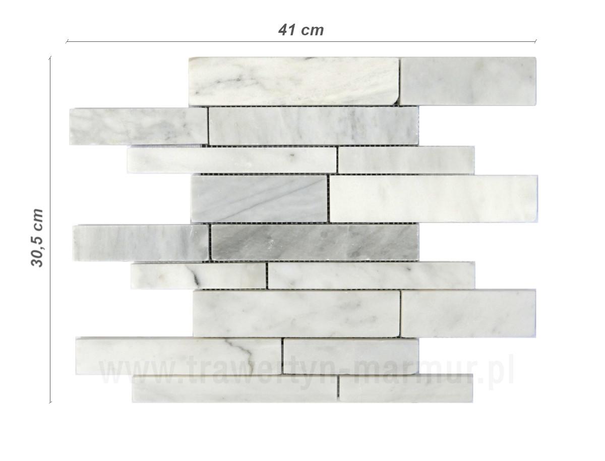 Mozaika marmurowa Bianco Carrara Random
